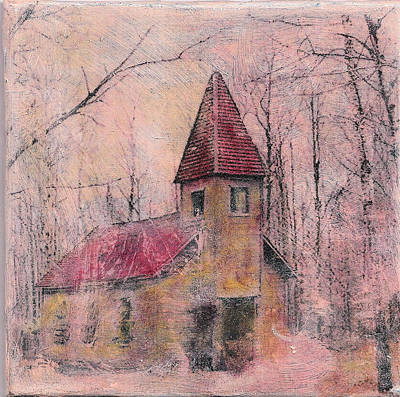 Mixed Media - Church In The Woods by Ruby Cross