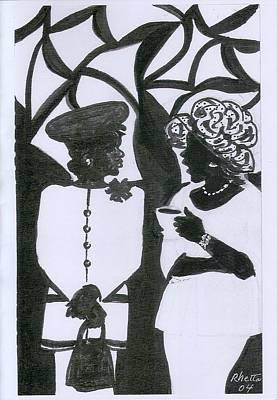 Church Ladies Art Print by Rhetta Hughes
