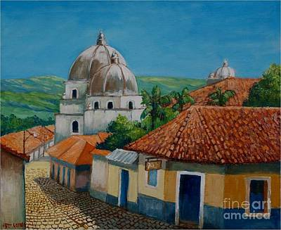 Church Of Pespire In Honduras Art Print