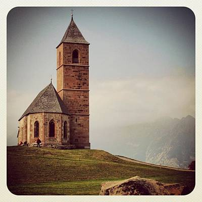 Mountain Photograph - Church Of Santa Giustina - Alto Adige by Luisa Azzolini
