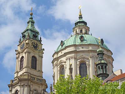 Time Photograph - Church Of St. Nicholas Prague by Ann Horn