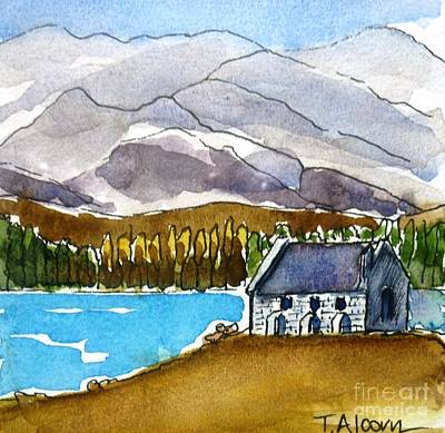 Religious Painting - Church Of The Good Shepherd by Therese Alcorn