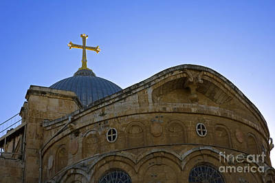 church of the Holy Sepulchre Old city Jerusalem Art Print by Ilan Rosen