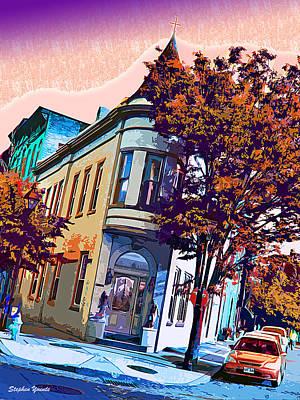 Fell Digital Art - Church On The Corner by Stephen Younts
