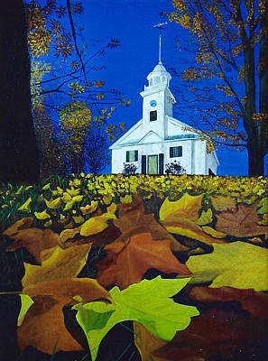 Painting - Church On The Hill by JoeRay Kelley