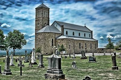 Art Print featuring the photograph Church On The Hill by Renee Hardison