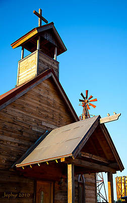 Arizona Artist Jeff Curtis Photograph - Church On The Mount - Goldfield Ghost Town by Jephyr Art