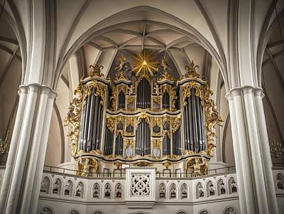 Church Organ Art Print by Kurt Forschen