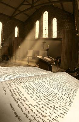The Book Of Revelation Photograph - Church, Rosedale, West Yorkshire by John Short