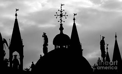 Music Figurative Potraits - Church Spires Silhouetted BW by Mike Nellums