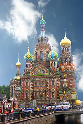 Photograph - church St. Petersburg Russia by Marie Morrisroe