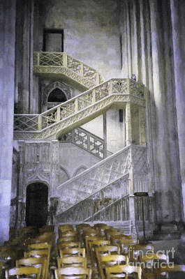Digital Art - Church Stairwell by Donna L Munro