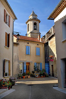 Art Print featuring the photograph Church Steeple In Provence by Dave Mills