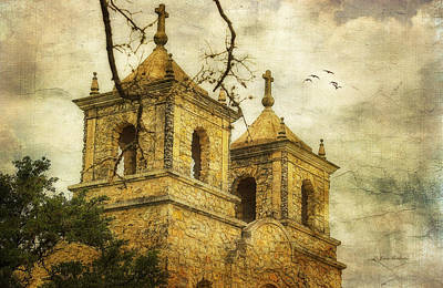 Art Print featuring the photograph Church Towers by Joan Bertucci