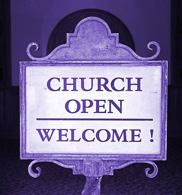 Photograph - Church Welcome by John Stephens