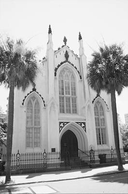 Photograph - Church With Palms by Emery Graham