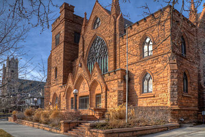 Photograph - Churches On South Temple Street by Utah Images