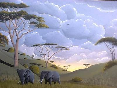 Painting - Chyulu by Hilton Mwakima