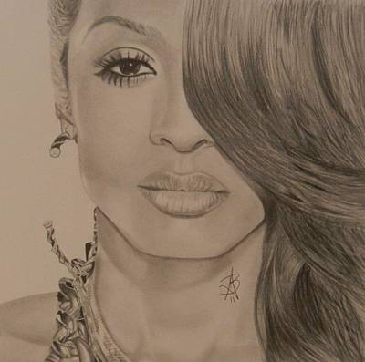Drawing - Ciara by Angelee Borrero