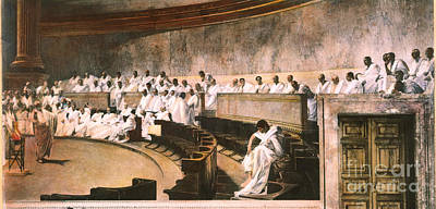 Cicero In Senate Art Print by Granger