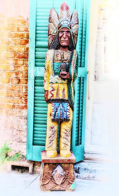 Crescent City Digital Art - Cigar Store Indian - New Orleans by Bill Cannon