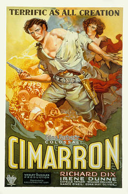 Bpp02-03 Photograph - Cimarron, Richard Dix, Irene Dunne, 1931 by Everett