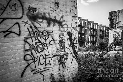 Cincinnati Abandoned Buildings Graffiti Art Print by Paul Velgos