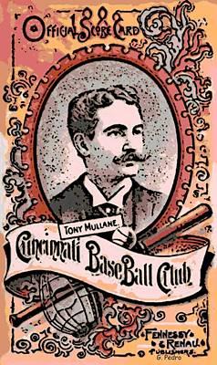 Cincinnati Baseball Art Print by George Pedro
