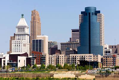 Pnc Photograph - Cincinnati Downtown City Buildings Cityscape by Paul Velgos