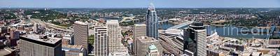 Carter Photograph - Cincinnati Panorama Aerial Skyline Downtown City Buildings by Paul Velgos