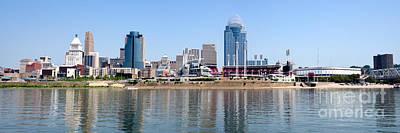 Cincinnati Panorama Skyline Art Print by Paul Velgos