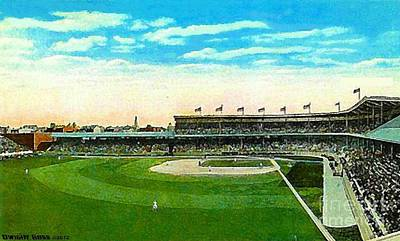 Painting - Cincinnati Reds' Redland Field In 1910 by Dwight Goss