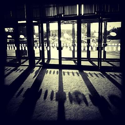 Expression Wall Art - Photograph - Cinema... #door #shadow #blackandwhite by Taylor Made