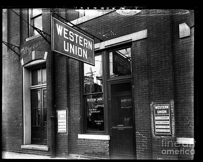 Photograph - Circa 1930 Western Union Store by Cris Hayes