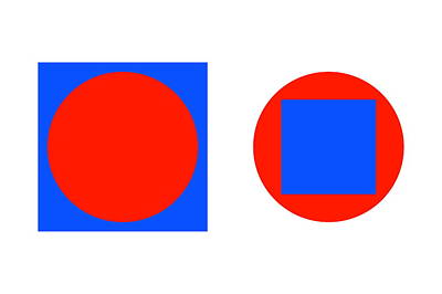 Ambiguous Photograph - Circle In A Square Illusion by