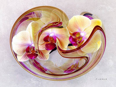Orchid Photograph - Circle Of Life - Yellow Orchids by Celia Durand