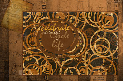 Music Score Digital Art - Circle Of Life by Bonnie Bruno