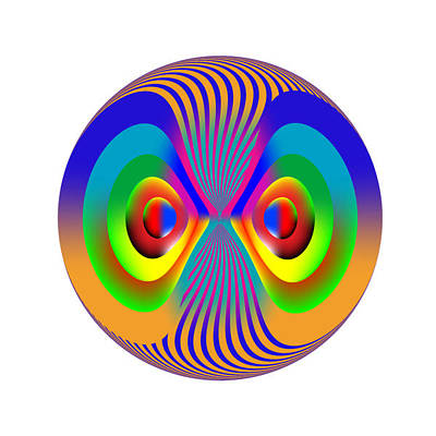 Digital Art - Circle Study No. 28 by Alan Bennington