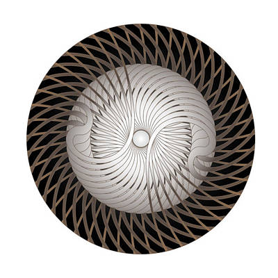 Digital Art - Circle Study No. 305 by Alan Bennington
