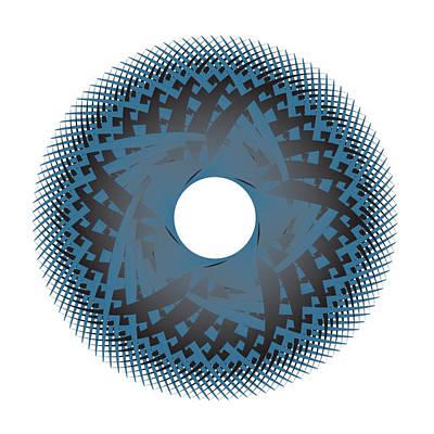 Digital Art - Circle Study No. 45 by Alan Bennington