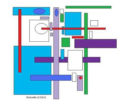 Digital Art - Circles And Rectangles Melody by B L Qualls