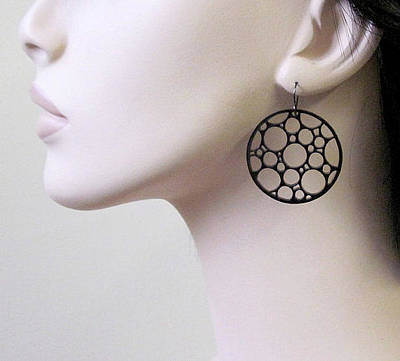 Laser Cut Jewelry Jewelry - Circles Earrings by Rony Bank