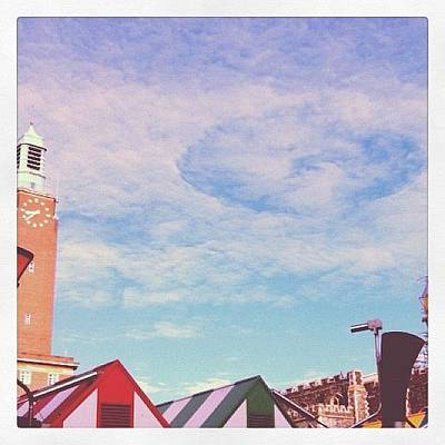 Norfolk Wall Art - Photograph - Circles Over Norwich Market Summer 2011 by Jo Shaw