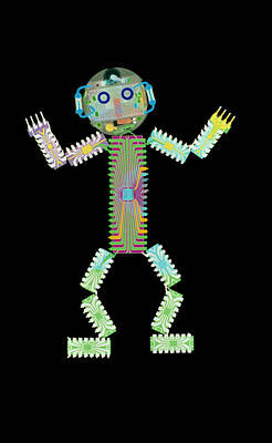 Integrated Photograph - Circuit Board Man by D. Roberts