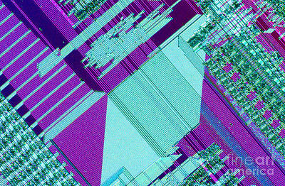 Integrated Photograph - Circuit Board by Michael W. Davidson