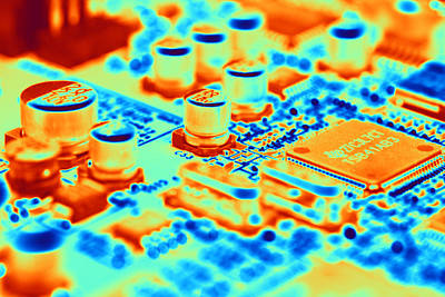 Integrated Photograph - Circuit Board by Pasieka