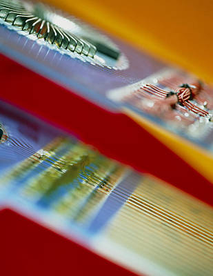 Microchip Photograph - Circuits Used In Testing Microchip Functions by Chris Knapton