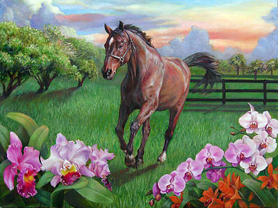 Painting - Cisco At Wild Orchid Farm by Nancy Tilles