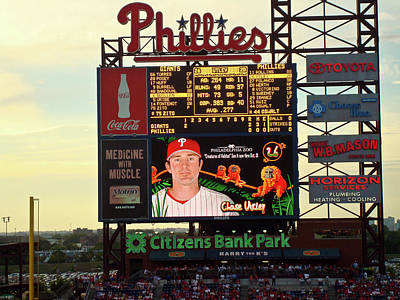 Chase Utley Photograph - Citizens Bank Park 2 by See Me Beautiful Photography