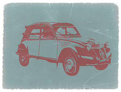 2cv Digital Art - Citroen 2cv by Naxart Studio
